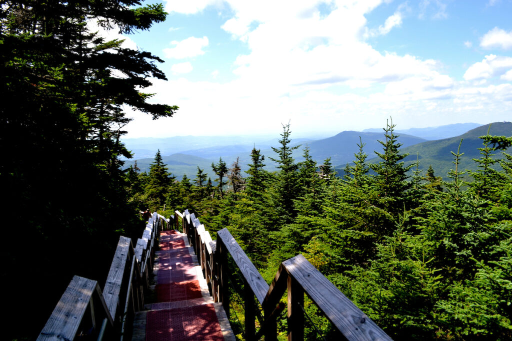 A mountain walkway in Killington, Vermont.