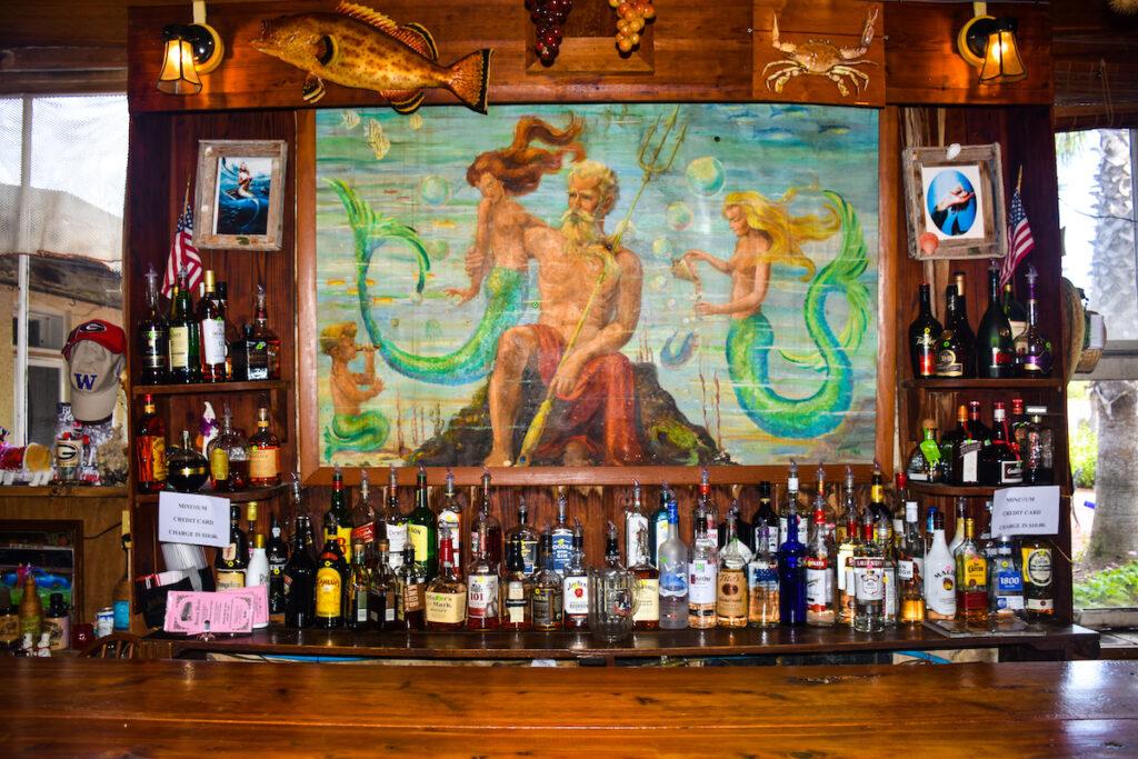 A mural at Neptune Bar.