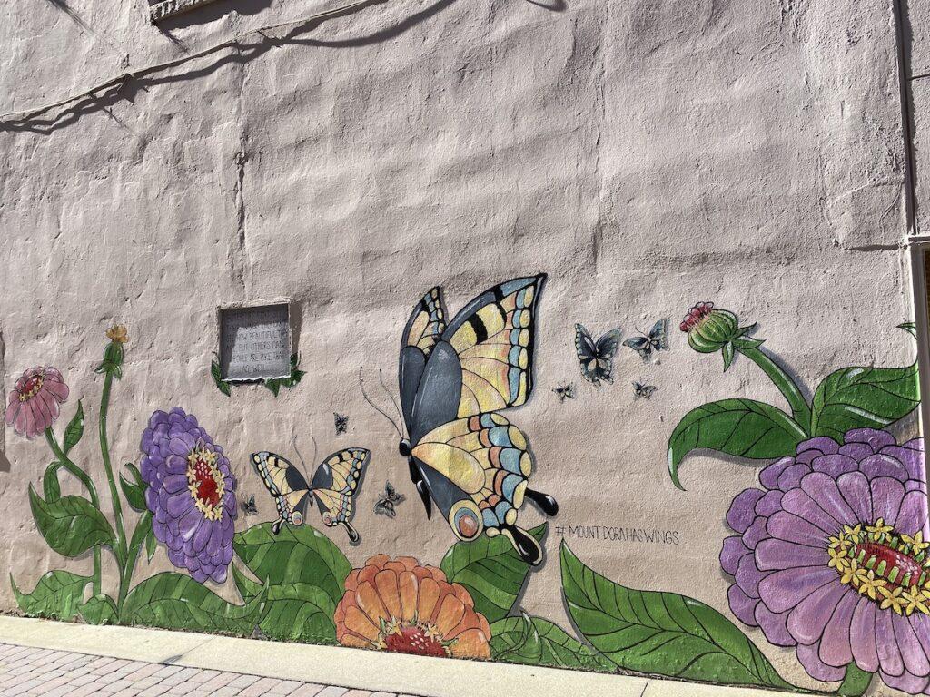A mural in downtown Mount Dora, Florida.