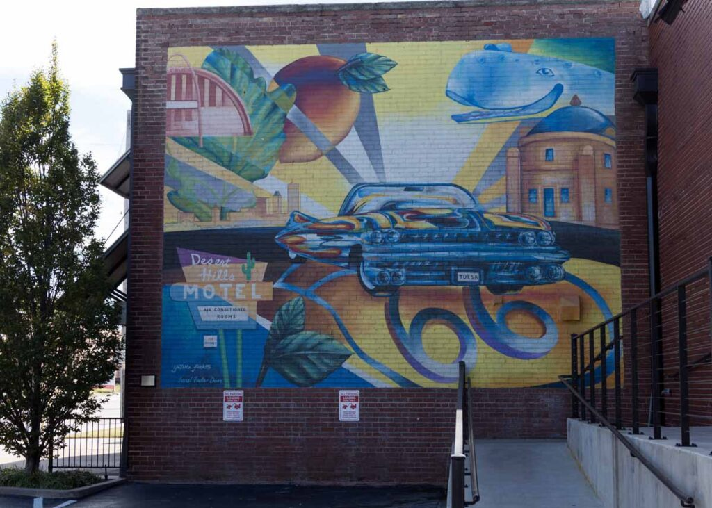 A mural in downtown Tulsa, Oklahoma.