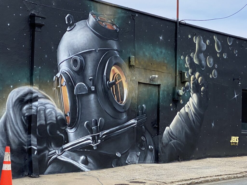 A mural in downtown Winston-Salem.
