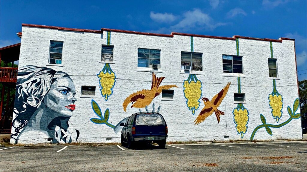 A mural in the Eau Gallie Arts District of Melbourne.
