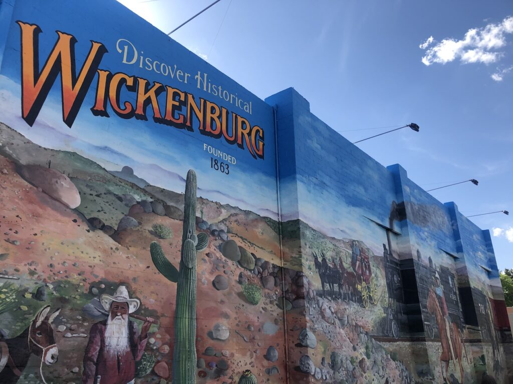 A mural in Wickenburg, Arizona.