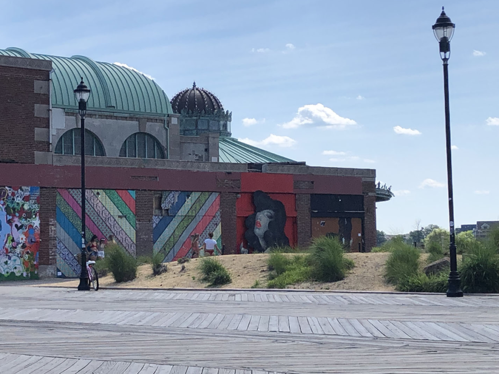 A mural on the side of a casino in Asbury Park.