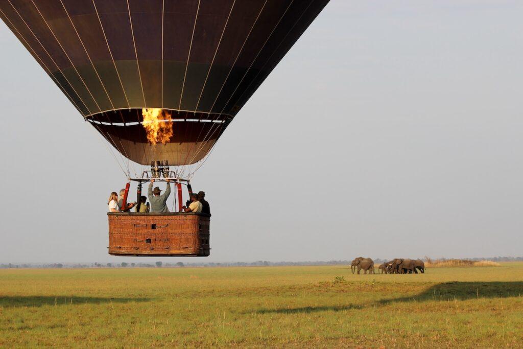 A Namib Sky hot air balloon safari in Namibia.