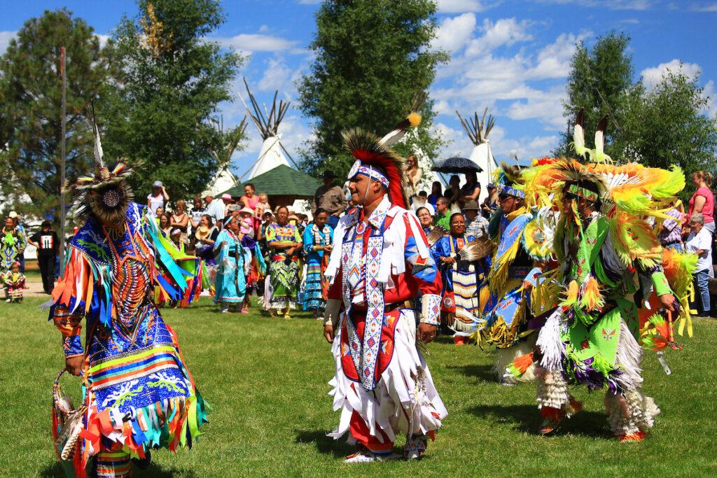 A Native American powwow in Wyoming.