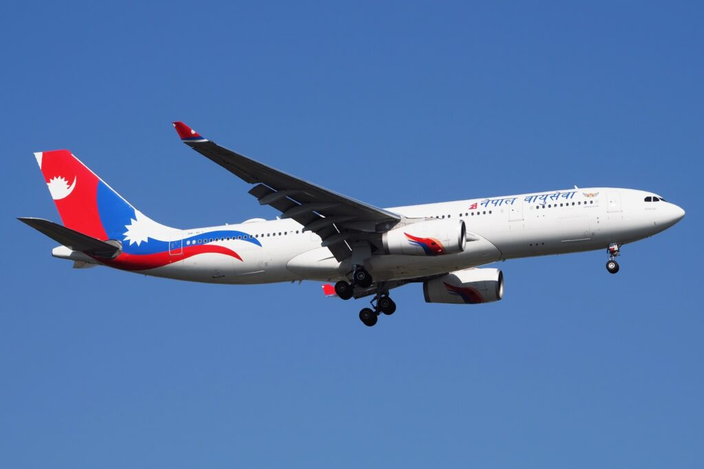 A Nepal Airlines plane.