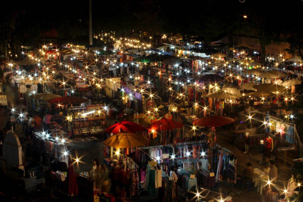 A night market at Chiang Mai.