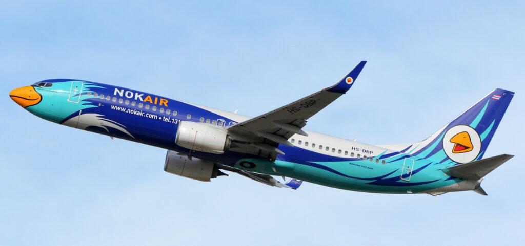 A Nok Air plane.