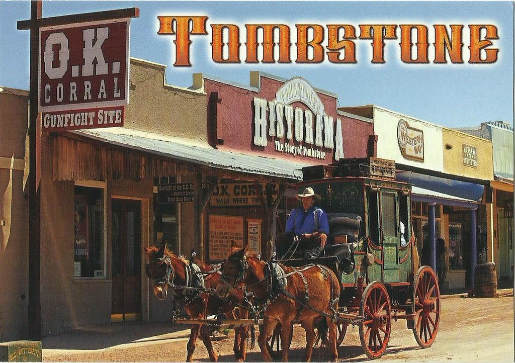 A old-fashioned poster for Tombstone, Arizona
