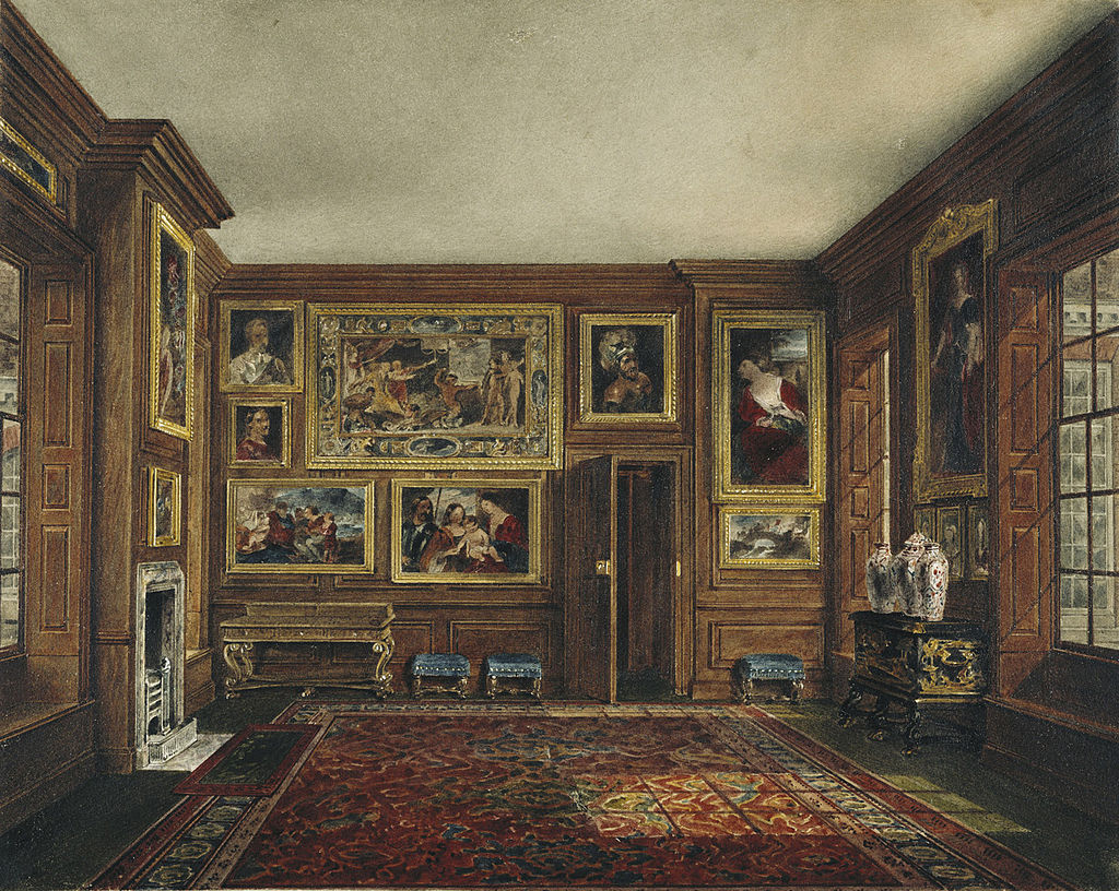 A painting of the Queen's Closet by James Stephanoff.