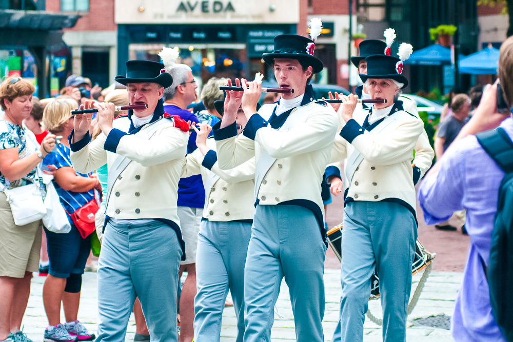 A parade at the Boston Harborfest
