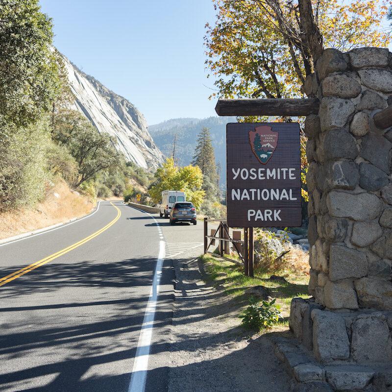 A park entrance for Yosemite.