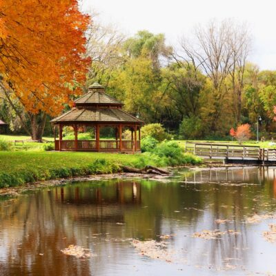 A park in the charming town of Middleton, Wisconsin.