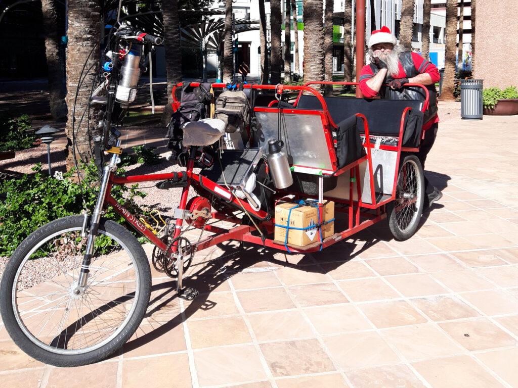 A pedal cab tour in Phoenix.