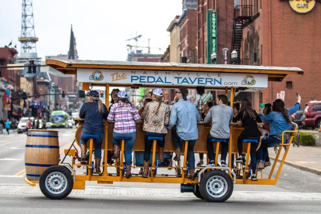 A pedal tavern in Nashville.