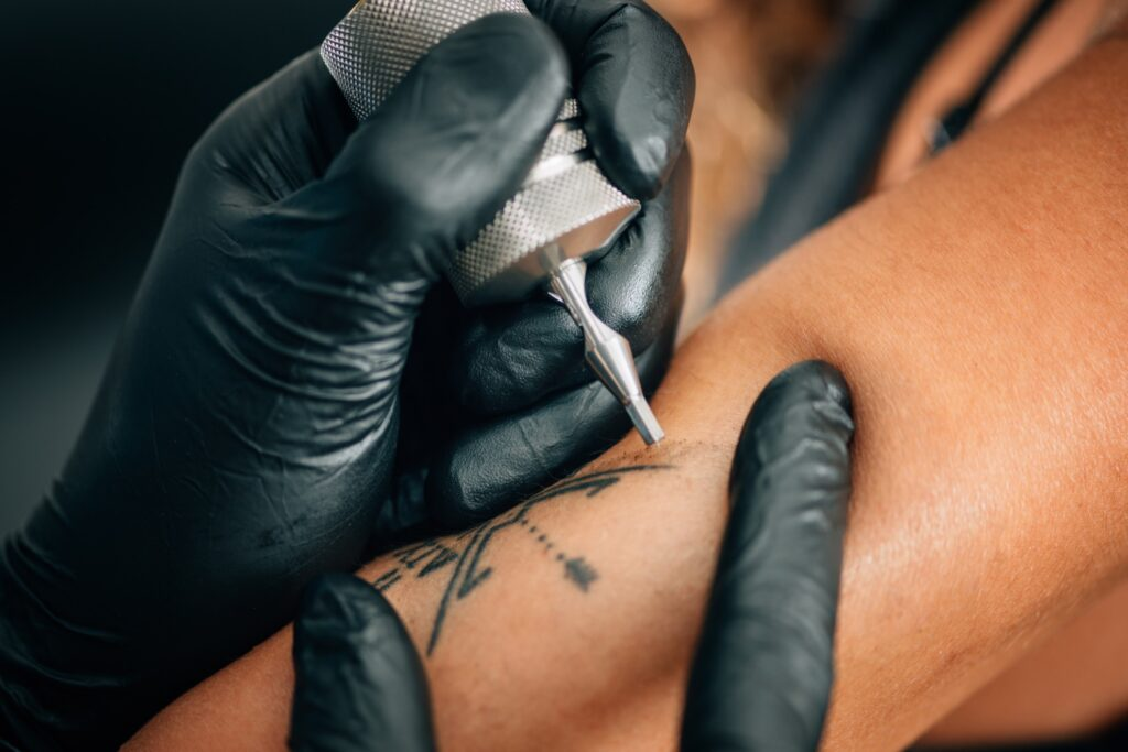 A person getting a tattoo.