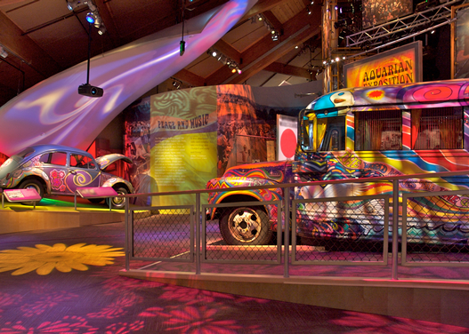 A photo from inside the Woodstock Museum.
