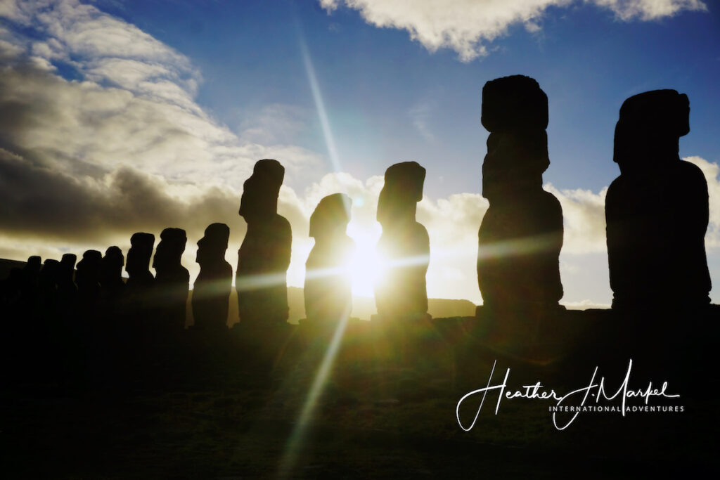 A photo of Easter Island from the writer's trip.
