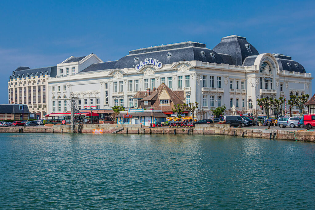 A photo of the historic Casio de Trouville, taken from the water