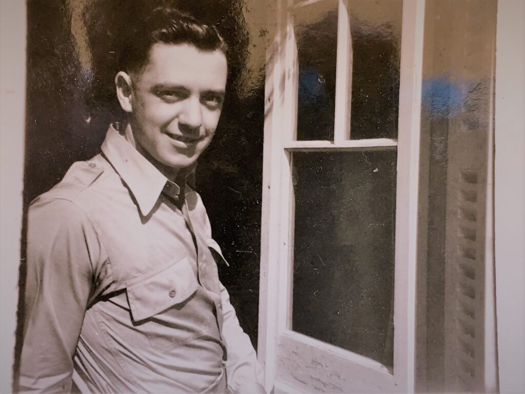 A photo of the writer's dad during World War II.