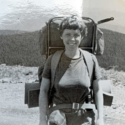 A photo of the writer when she was younger, enjoying her travels.