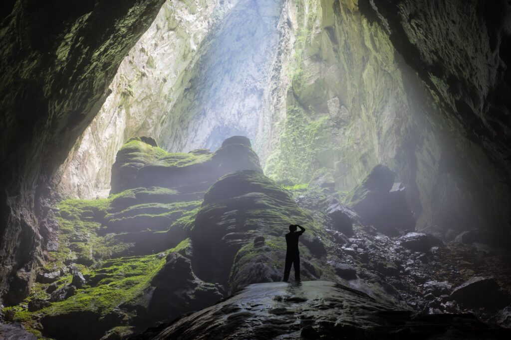 A photographer in Hang Son Doong Cave.