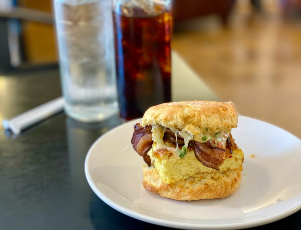 A pimento cheese biscuit from Buttermilk Handcrafted Food.