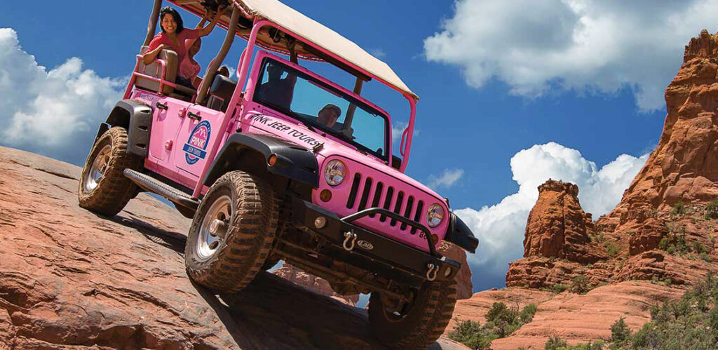A Pink Jeep tour in Sedona, Arizona.