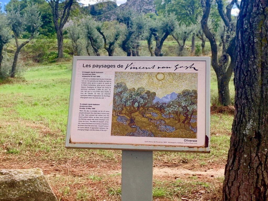 A plaque about Vincent Van Gogh in Provence.