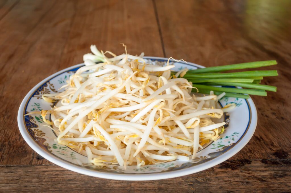 A plate of bean sprouts from Thailand.