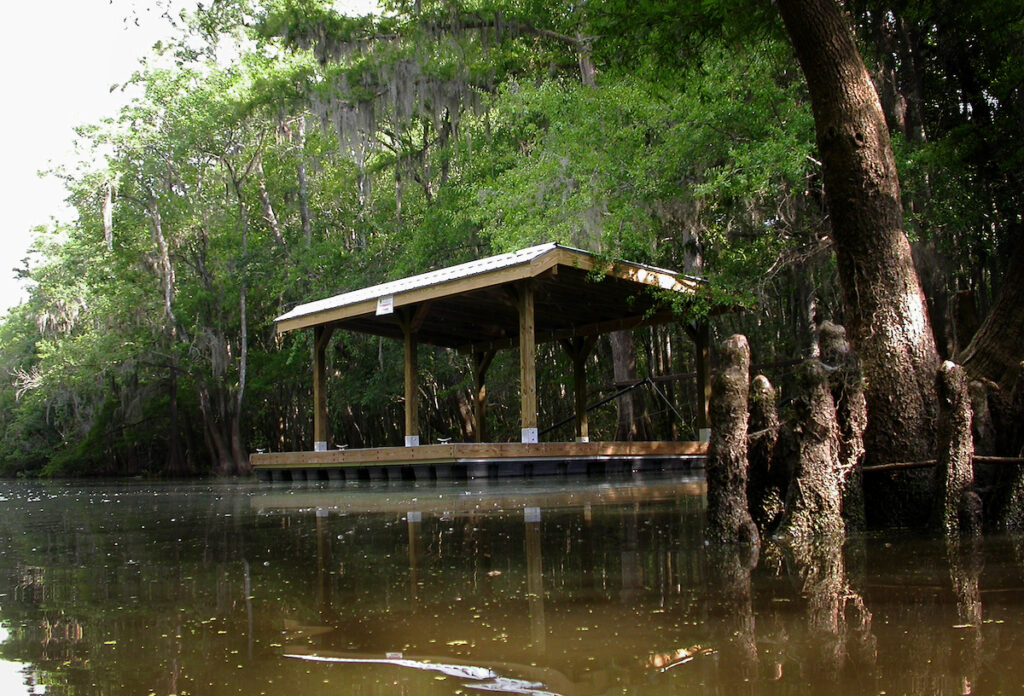 A platform for camping at the Bartram Canoe Trail in Stockton, Alabama.