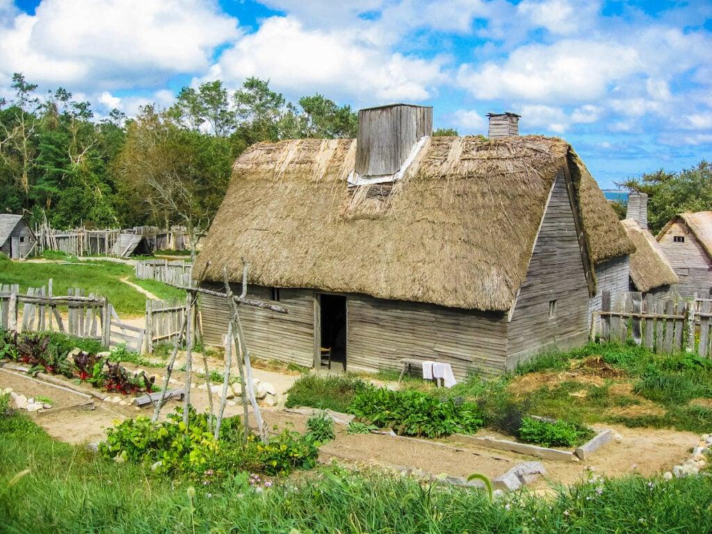 A Plimoth Plantation house.