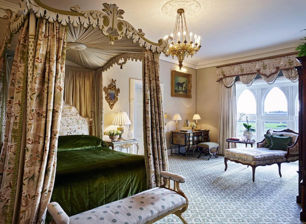 A plush suite in the castle.