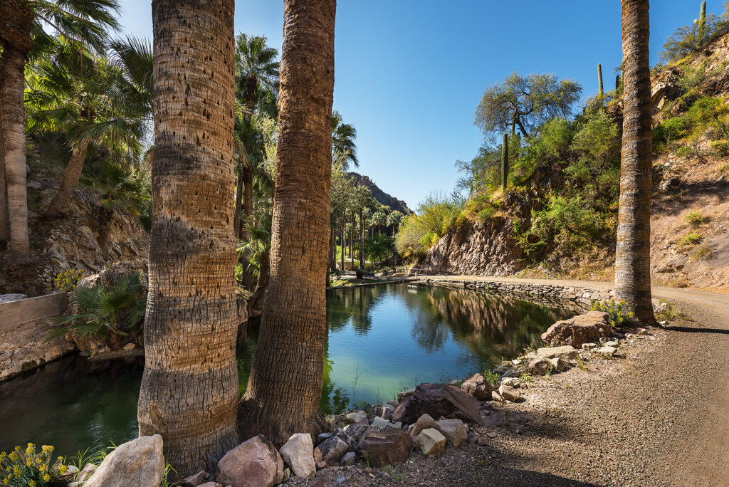 A pool at Castle Hot Springs in Morristown, Arizona.