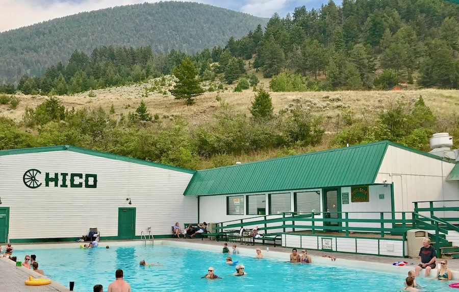 A pool at Chico Hot Springs in Montana.