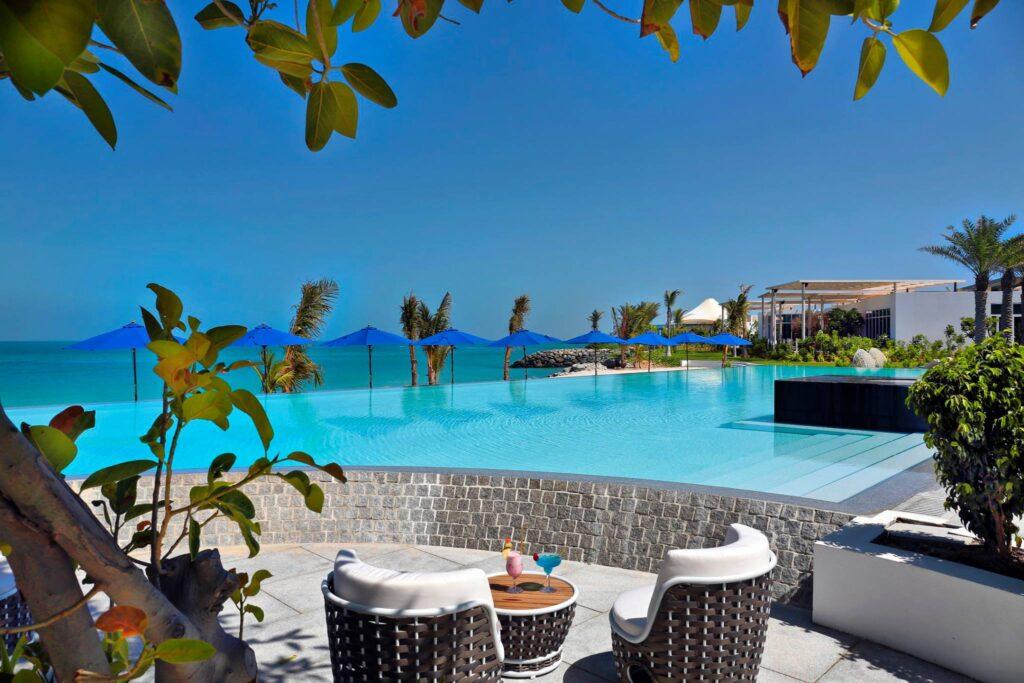 A pool at the Zaya Nurai Island villas.