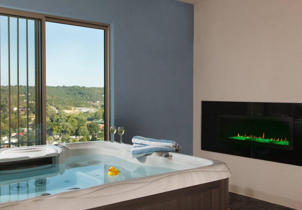 A premium spa suite at Hermann Hill.
