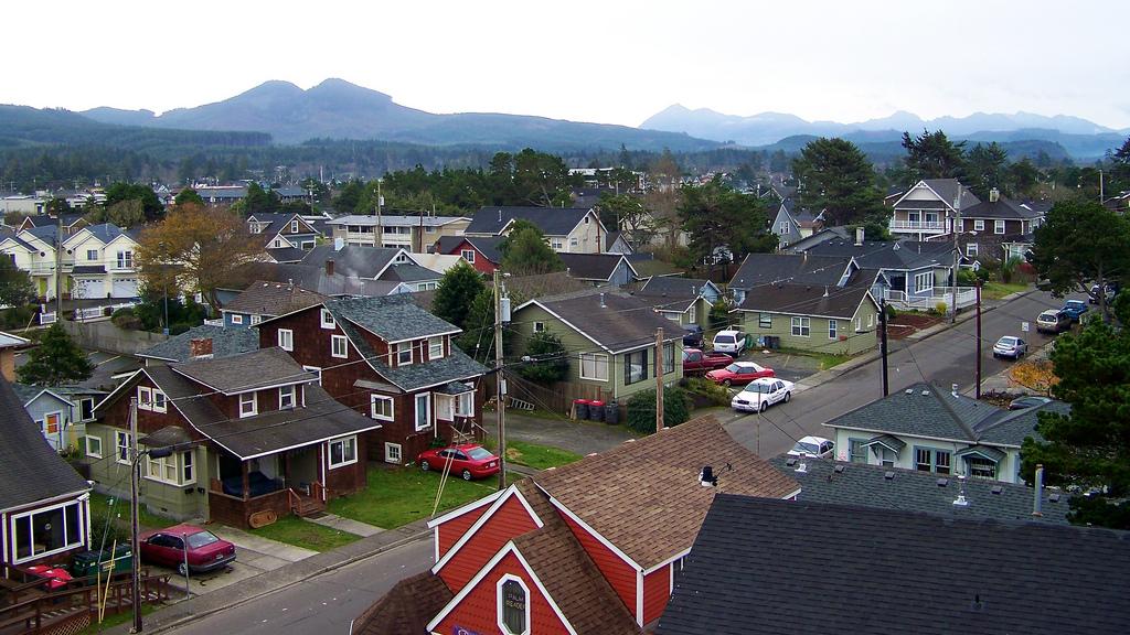 A quaint neighborhood in Gearhart, Oregon.
