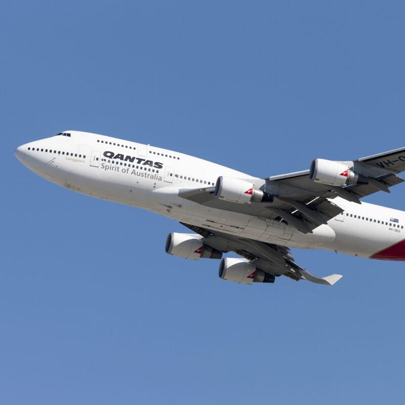 A Quantas Airlines plane.