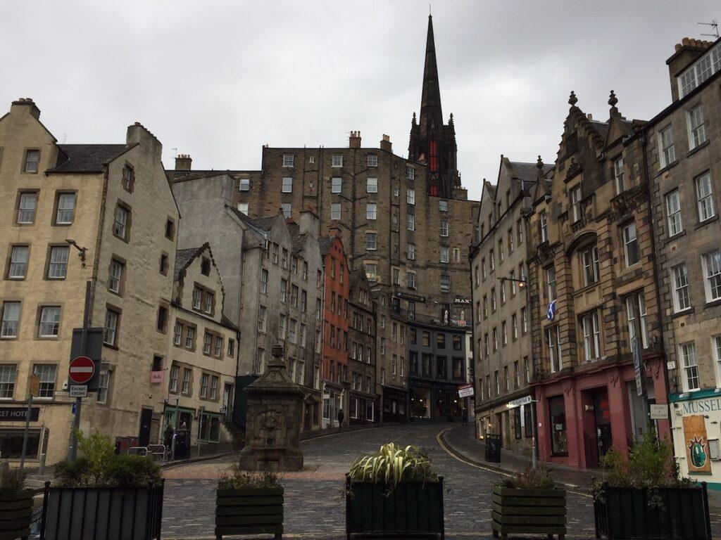A quiet side street in Edinburgh.