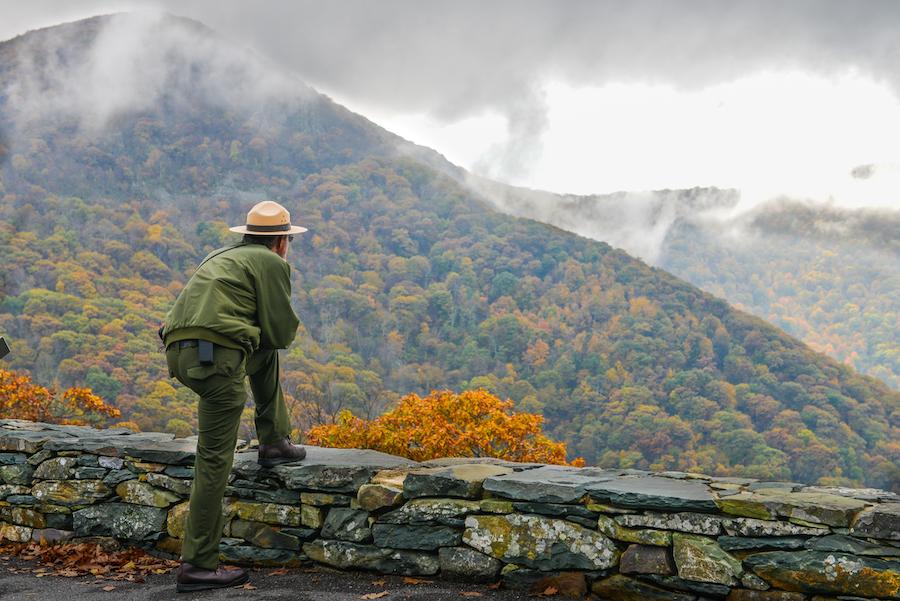 A ranger in Shenandoah National Park.