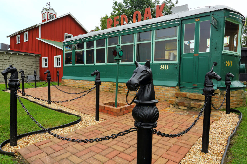 A reinvented railroad car in Carthage.