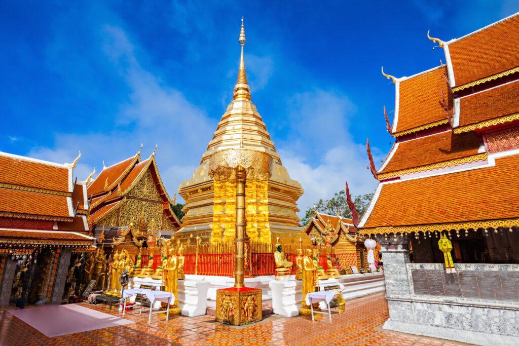 A religious shrine at Doi Suthep.