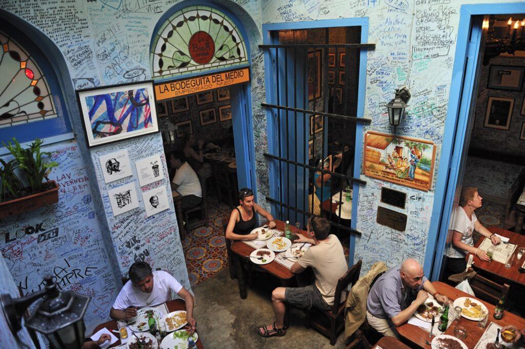 A restaurant in Havana, Cuba.