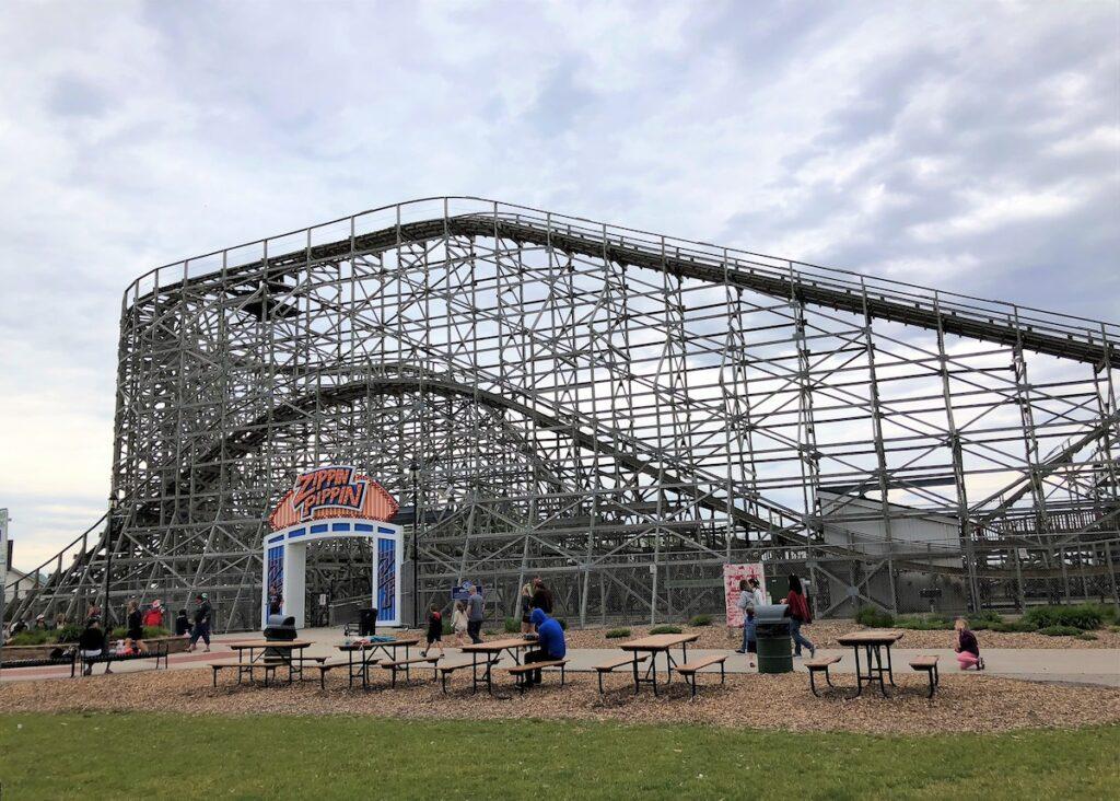 A ride at Bay Beach Amusement Park.