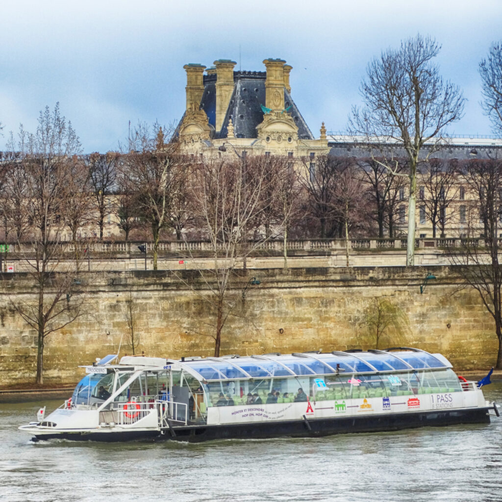A river cruise by Batobus in Paris.