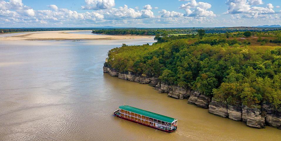 A river cruise through Myanmar/Burma.