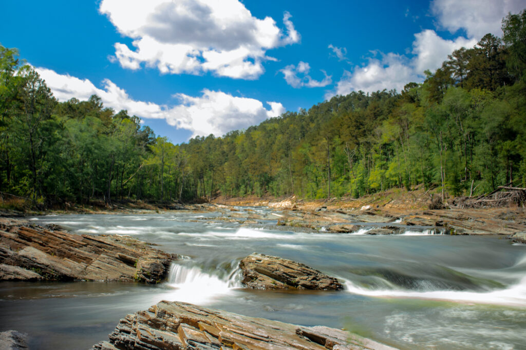 A river in Beavers Bend State Park in Oklahoma.