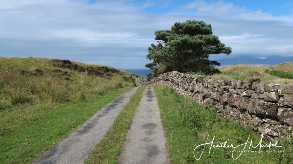 A road on the Isle of Muck.